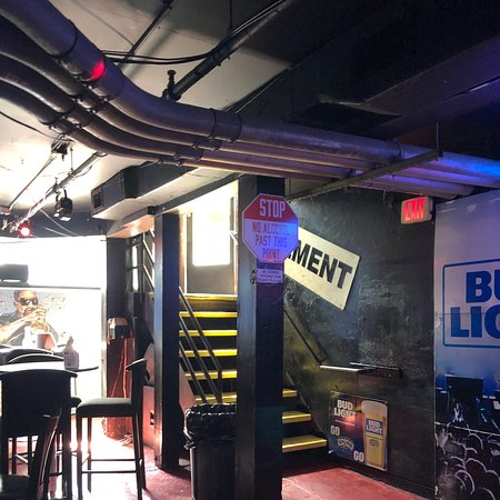 The basement bar and lounge