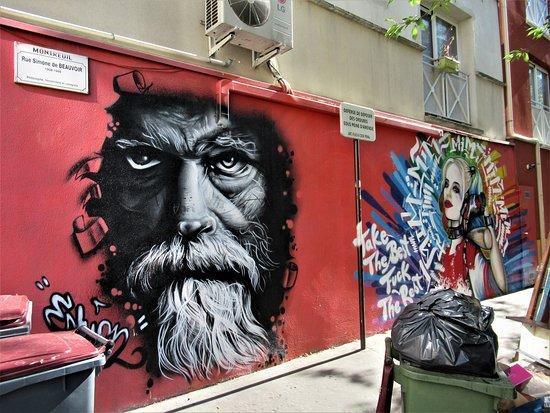"""Fresque """"le Café Marceau"""""""