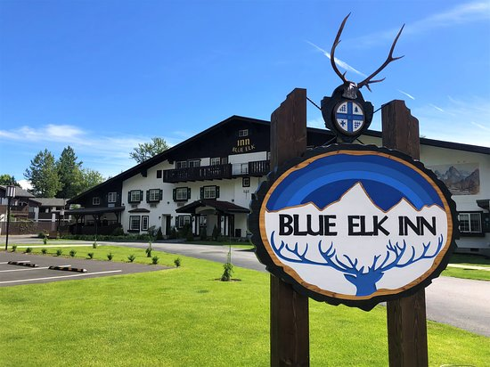Our new sign is up! We present to you the Blue Elk Inn.