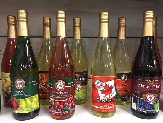Sparkling apple ciders made from Norfolk County apples - no sugar or water added!