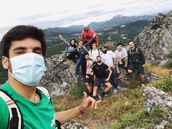 Selfie com o guia no cume da serra de Marvão.