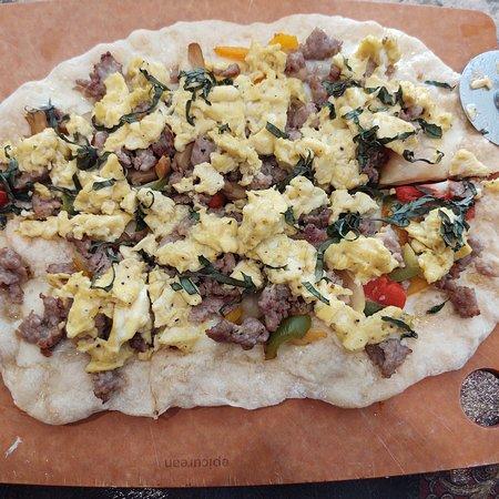 Lagos Finger, Estado de Nueva York: Breakfast oizza