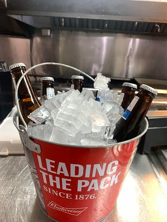 Buckets o' beer! Available at Creekside Cabins and Tavern