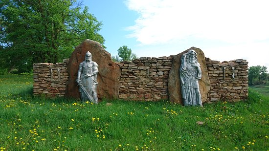 Mtsensk, Oroszország: Древний воин и Святой Кукша