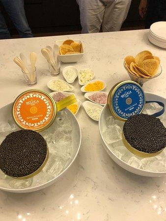 KPMG events with Ossetra golden caviar and Beluga royal