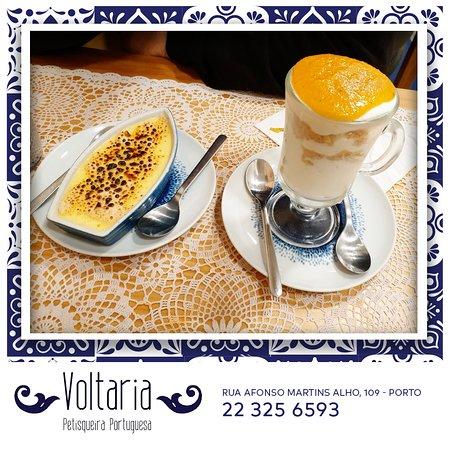 As sobremesas caseiras da Petisqueira Voltaria já provaram? Terminem a vosas refeição no nosso restaurante da melhor forma! 😍 #PetisqueiraVoltaria
