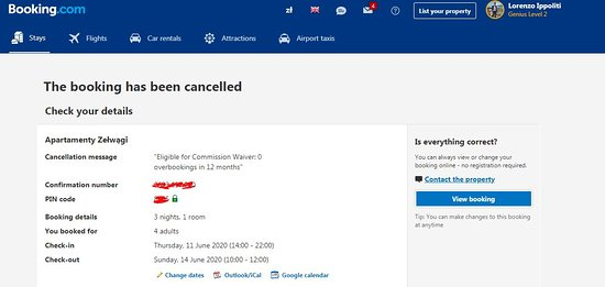 Zelwagi, Polonia: Cancellation from host