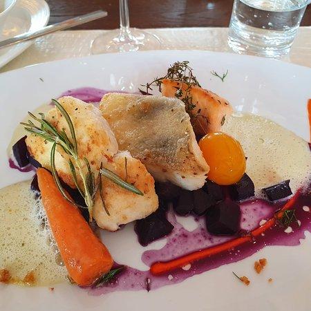 Bilder von unserem Essen im Oberdeck in Wismar
