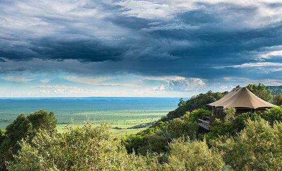 All Angama Mara's tents have views over the Mara below