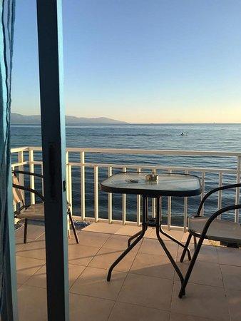 Nea Karvali, Grécko: Aussicht von Dimitra Beach Apartments