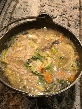 1日目の夕飯 -猪鍋-