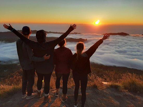 Kintamani, Indonesia: wonderful sunrise  from top at Mt Batur