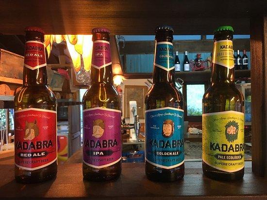 Santa Marina de Valdeon, Espagne: Cerveza artesanal Kadabra,  Apostamos por los productos de la zona.