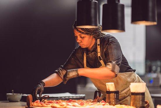 Chef preparing food.