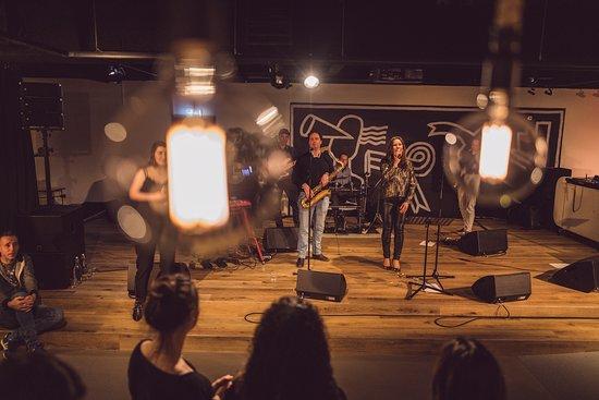 Live band performance.