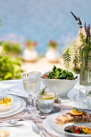 Food at Emporio served in our Garden Terraces.