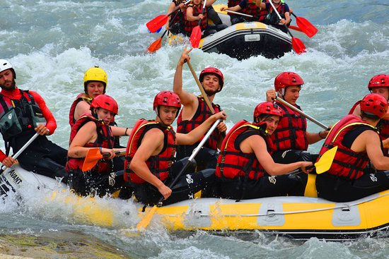 Rafting in Vjosa river is amazing and funny.