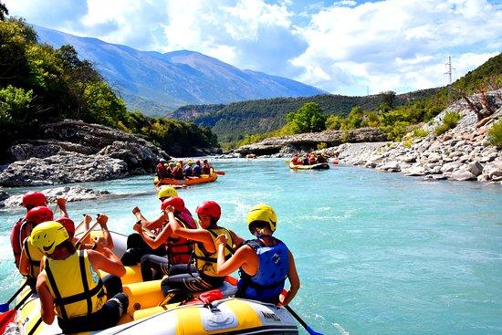 Rafting in Vjosa river,Permet,Albania