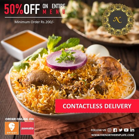 #Contactless Delivery We've Reduced The Distance Between You And Your Favourite Food. Taking Orders through Swiggy and Zomato. #Orderonline   #northernplate #gurgaon #food #foodporn #foodie #instafood #foodphotography #foodstagram #yummy #instagood #foodblogger #delicious #love #foodlover #like #follow #healthyfood #dinner #foodgasm #foodies #tasty #photooftheday #cooking #lunch #restaurant #picoftheday #healthy #eat #chef #instagram