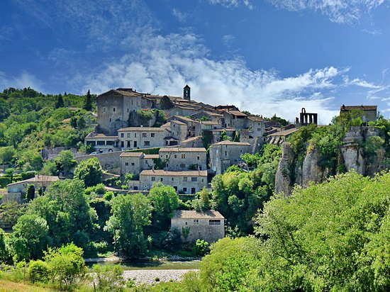 Balazuc, one of the most beautiful villages of France (Les plus beaux villages de France), Ardèche. Picture taken during our roundtrip France.