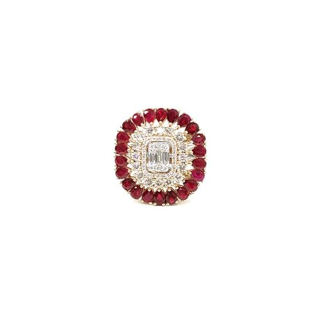 DIAMOND RING WITH RUBY +971 50 656 6584