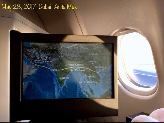 هونج كونج, الصين: From Hong Kong to Tbilisi, Georgia. Transferred at Dubai. CATHAY was not the only choice. Connecting flight FLY DUBAI, small size cup noodles available on board if you have a Chinese stomach.  