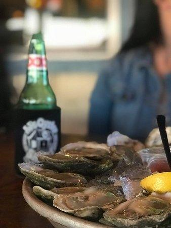 Enjoy a dozen raw oysters!