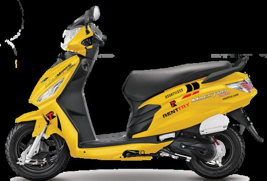 Dzsajpur, India: scooter on rent at just 168rs /day