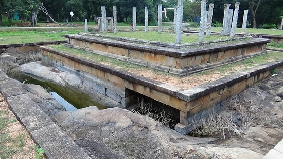 Granite base of the moat