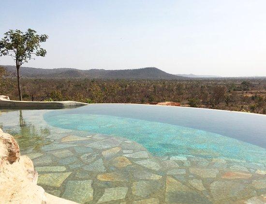 Pendjari National Park, Benin: Infinity pool with a view over the Savana