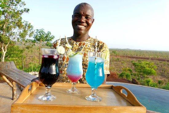 Pendjari National Park, Benin: Kasco and a selection of cocktails