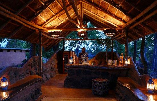 Pendjari National Park, Benin: Our lovely reception at night
