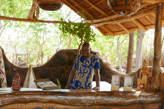 Pendjari National Park, Benin: Urbain, our receptionist, in his element