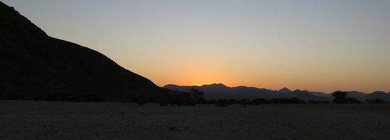Kaokoland, Namibia: Sunset from camp