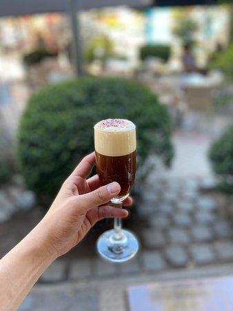 Shakerato PIBAZ 🍹 Café frío al estilo de la casa  #coffee #caffe #pibaz #espresso #honey #mie #barista