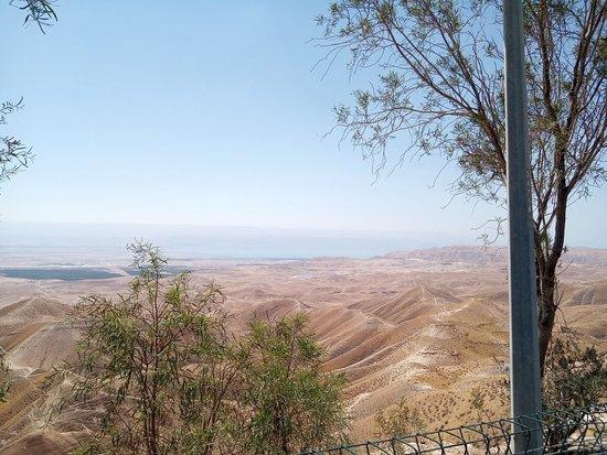 Jordan Valley, Israel: vue sur désert de judée, mer morte, jordanie  à 1h. de Jérusalem