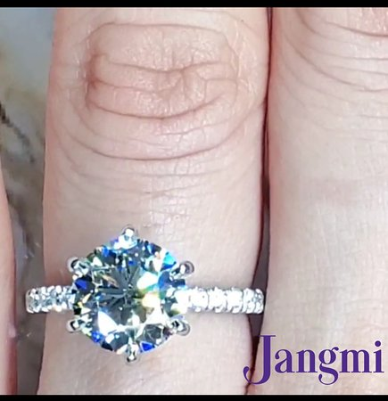 2ct round cut diamond on our love elegant six prong in our platinum setting.