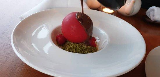 chocolate sphere - with greentea pop pop