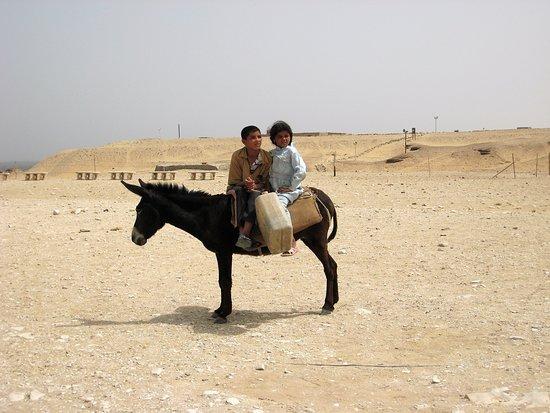Kom Ombo, Egypt: Souvenirs de mes Voyages --- Egypte -- Jeunes Nubiens à la recherche de l'eau dans un puits loin de leur village .20.06.18