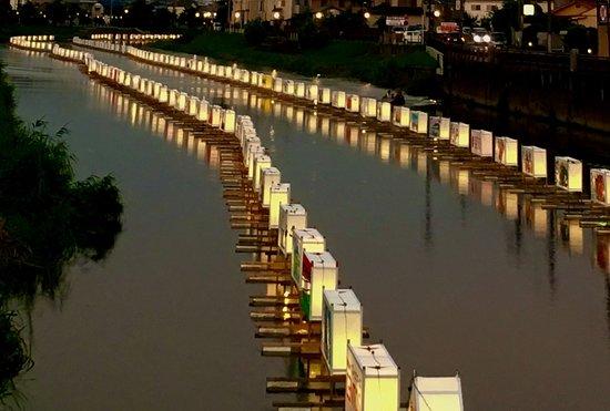 杉戸町, 埼玉県, Floating lanterns for prayer              2018