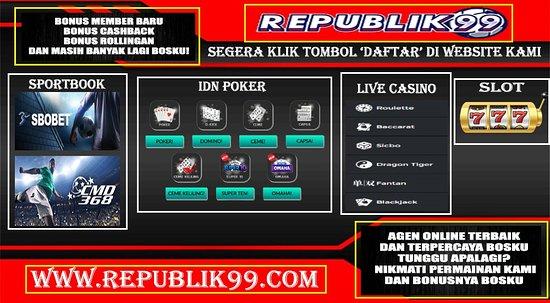Tripadvisor Republik99 Adalah Situs Judi Slot Terbaik Di Indonesia Judi Slot Di Republik99 Bisa Menggunakan 1 Id Untuk Bermain Semua Peramainan صورة إندونيسيا آسيا