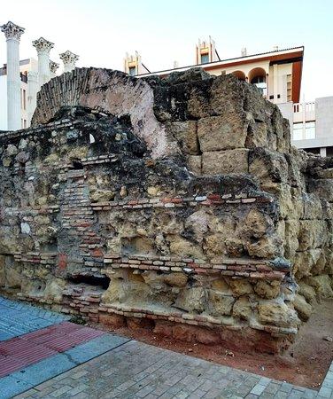 Ruína do Muro de Antérides no Templo Romano de Córdoba.