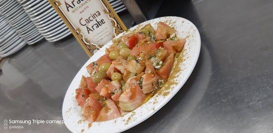 Ensalada de tomate estilo Arabia