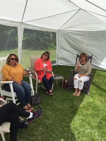 Cherryfield, ME: Wine and friends! What could be better  on a beautiful spring day.