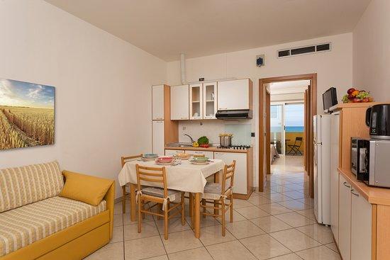 Bilocale Panoramic -cucina/soggiorno