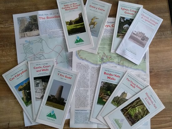Valeways (a local walking charity) provides a range of 20 walks in the beautiful and historic Vale of Glamorgan. These are described in leaflets with maps that are available from Tourist Information Points or to download from the website.