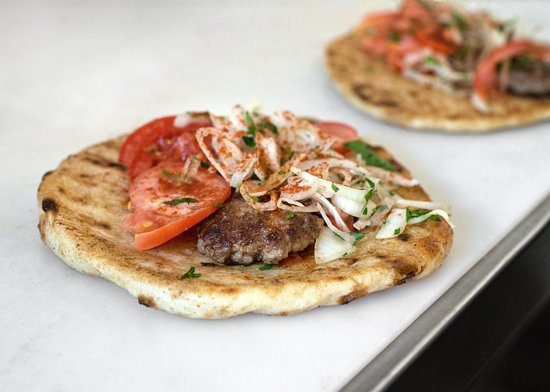 pitta wraps with beef kebabs