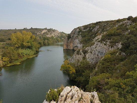 Saint-Sériè, France : Via ferrata saint sériès, Naturéo Sport Aventure ! Panoramique