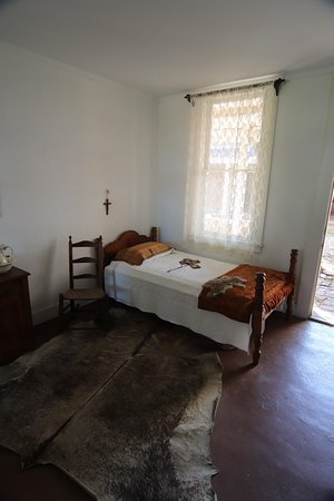 This is the bed of the priest when he comes.