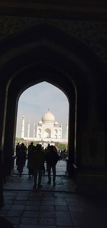 Taj Mahal ia an ivory -white marble mausoleum on the bank of River  Yamuna river in india ,City Agra. Est 1632 by Muhgal Emperor Shah Jahan  ,as his wife Mumtaz Symbol of love